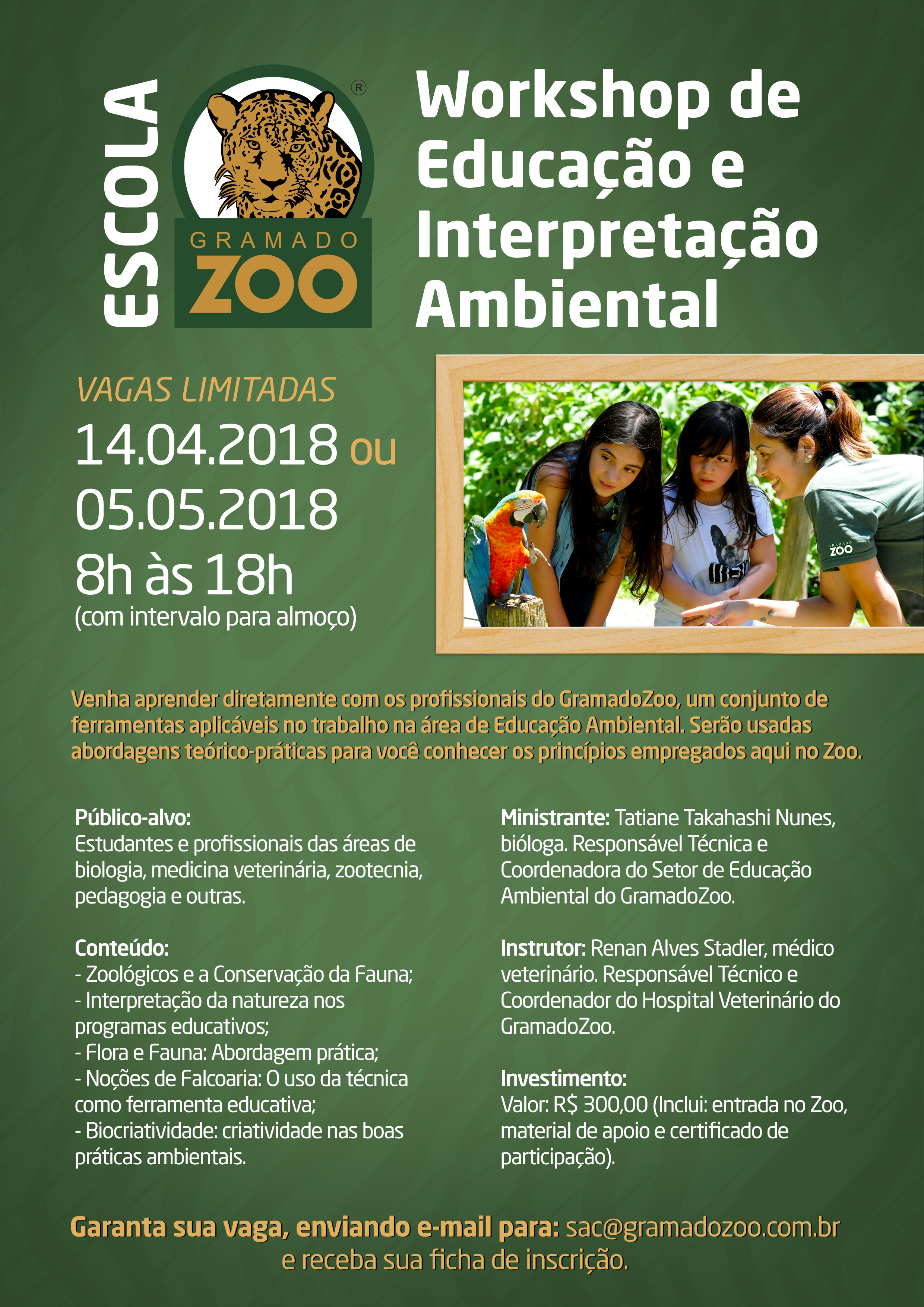 Cartaz workshop educaçao ambiental